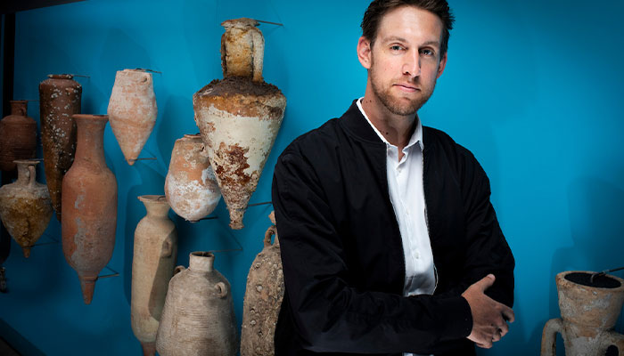 Macquarie University archaeologist Dr Emlyn Dodd.