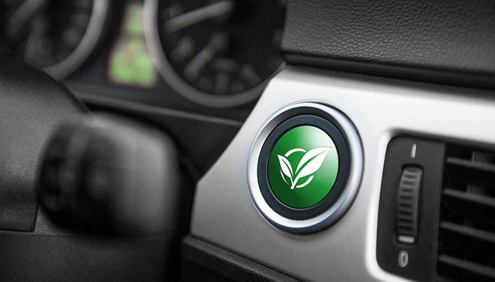 ECO mode button on a car