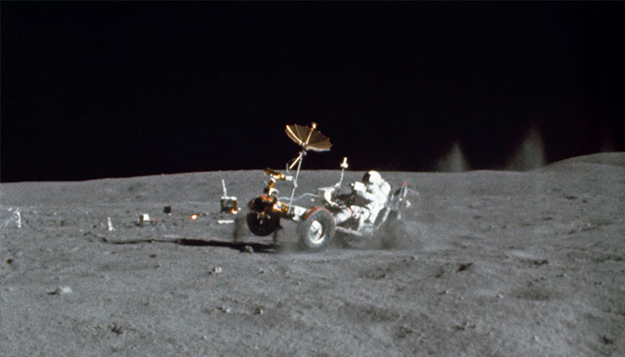 Lunar roving vehicle from Apollo 16 mission 1972