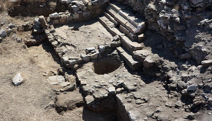 Ancient Roman wine press uncovered at Antiocha Ad Cragum, Turkey