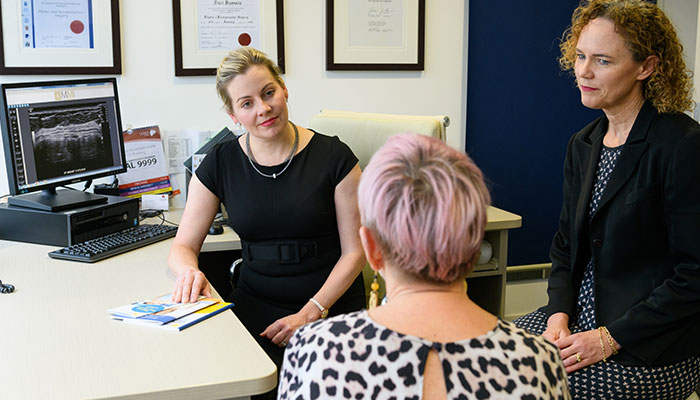 Doctors Karen Shaw and Katrina Tiller say the new MQ Health Integrated Breast Health Clinic will streamline diagnosis and give access to the latest breast cancer treatments.