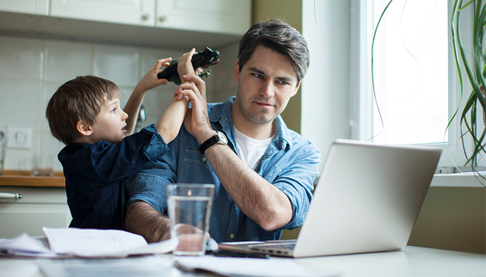 Flexible work can cause even more pressure on working parents