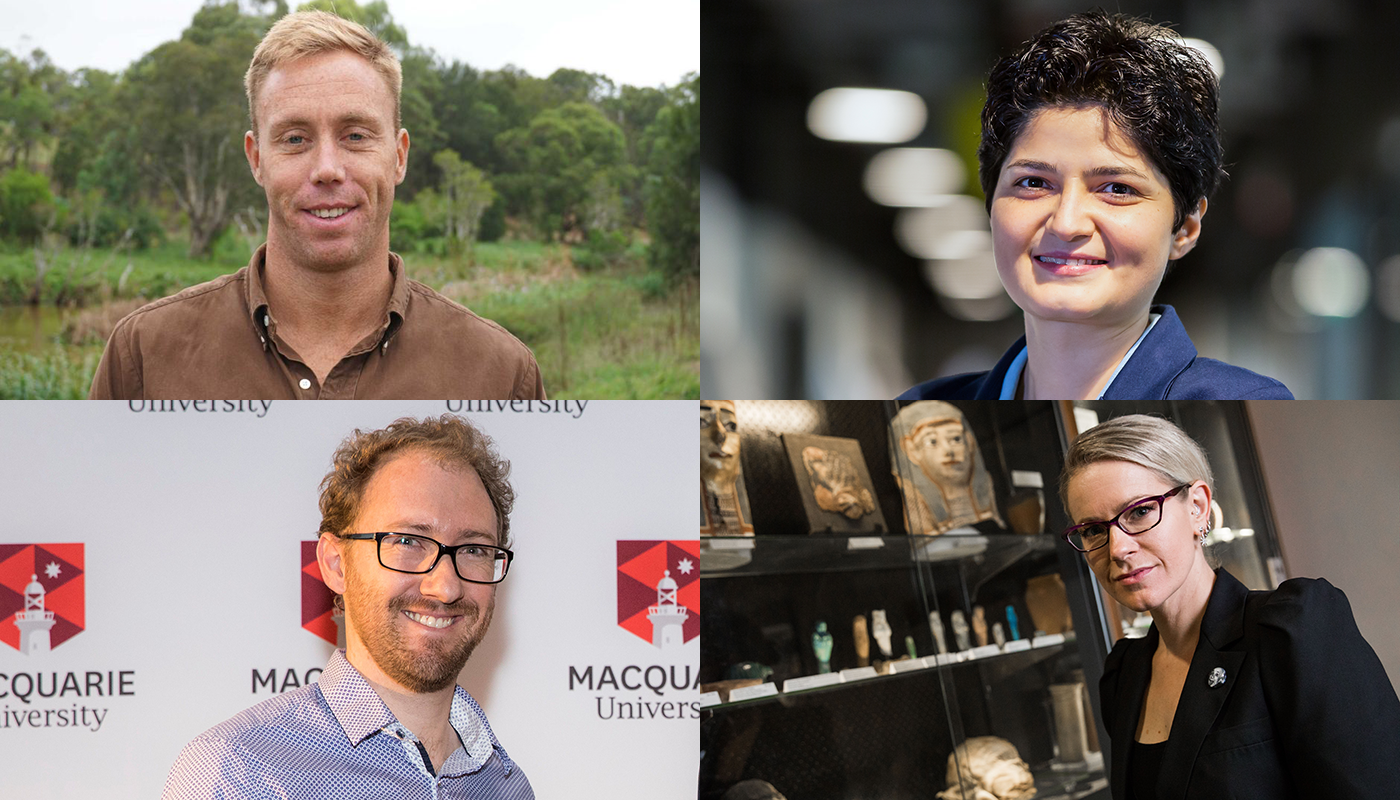 Tall Poppy awards for four outstanding Macquarie researchers