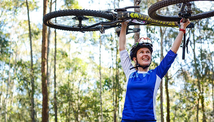 Cyclist and researcher in the Macquarie University Department of Cognitive Science, Kath Bicknell