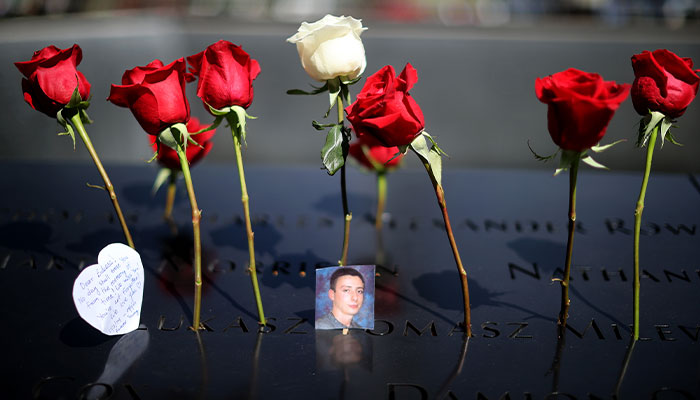 September 11 commemoration at site of World Trade Centre