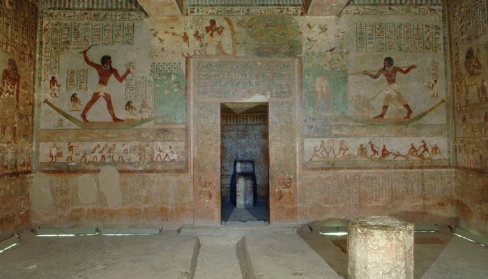 Beni Hassan Khnumhotep II tomb 3 east wall.