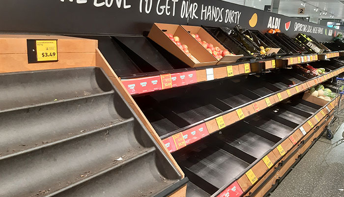 Panic buying or being prepared? The great supermarket rush