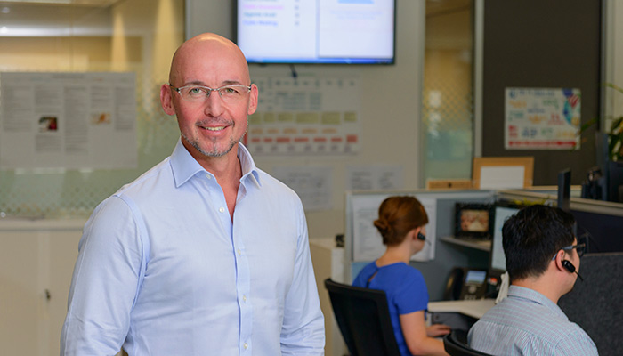 Professor Nick Titov runs Mindspot, Macquarie University's digital mental health service.