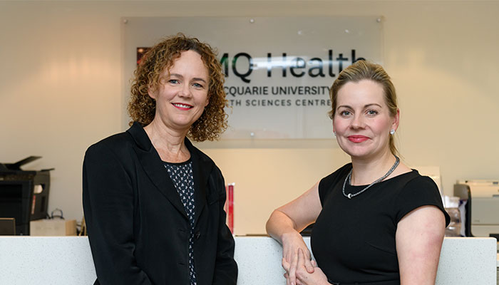 Doctors Karen Shaw and Katrina Tiller at the new MQ Integrated Breast Heatlh Clinic.