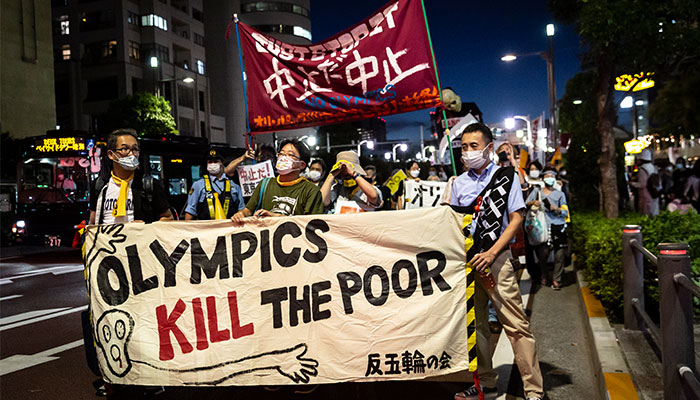 Olympics protest in Tokyo