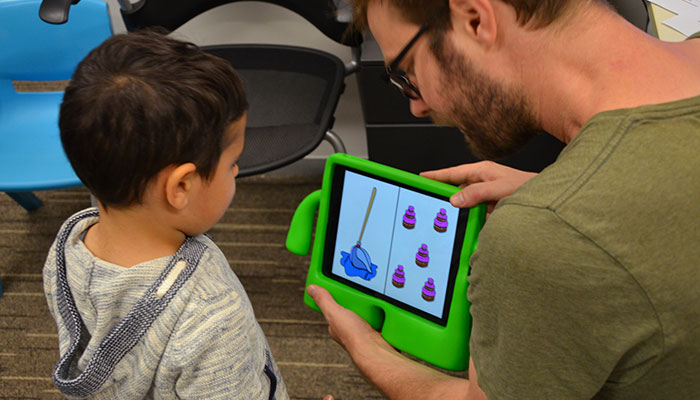 The Child Language Lab uses games to help children learn to speak.