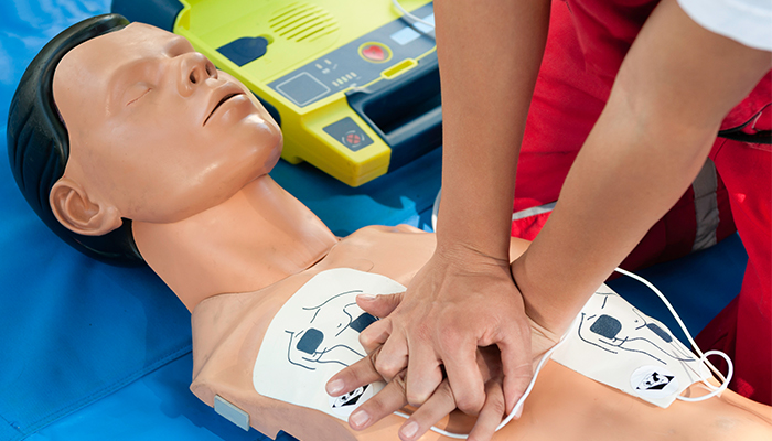 CPR defibrillator training