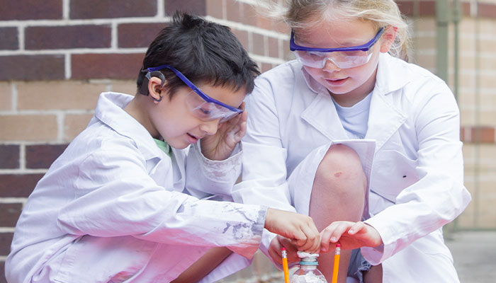 Science camp for hearing impaired kids at Macquarie University.