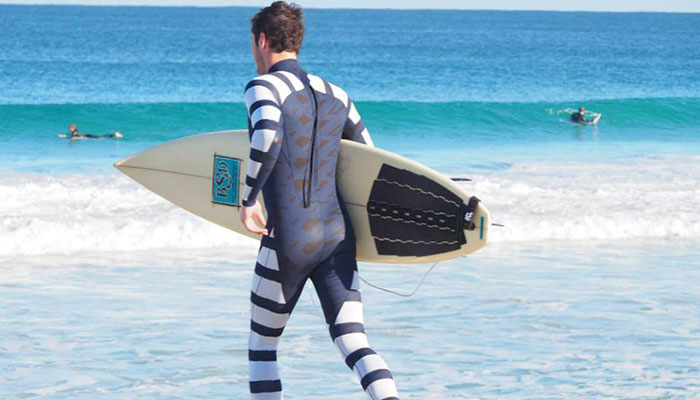 Wetsuits that hide humans from sharks