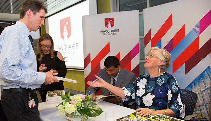 Gourmand Maggie Beer lauches her cook book at Macquarie University in partnership with Professor Ralph Martins using recipes that boost memory.