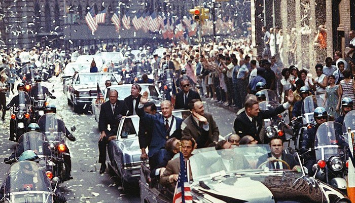 A parade in NYC to mark the Apollo 11 moon landing