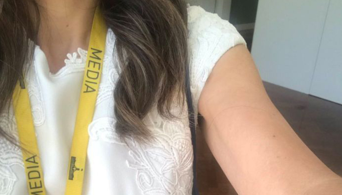 The Twitter photo from Patricia Karvelas showing her contentious sleeve