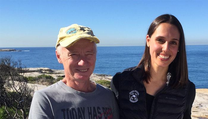 Dr Vanessa Pirotta and ctizen scientist Wayne Reynolds